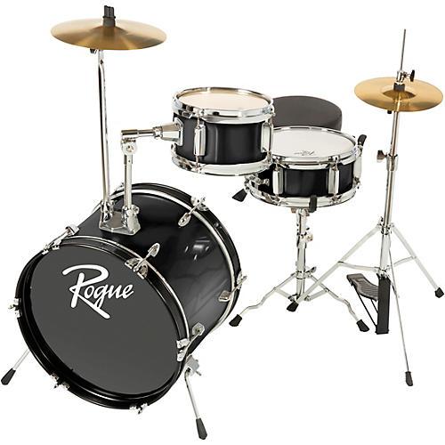 Rogue Lil' Kicker 3-Piece Junior Drum Set Black