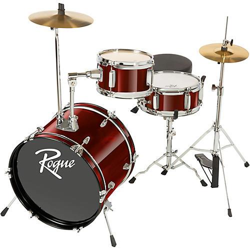 Rogue Lil' Kicker 3-Piece Junior Drum Set Dark Red