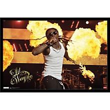 Lil Wayne - Stage Fire Poster Framed Black