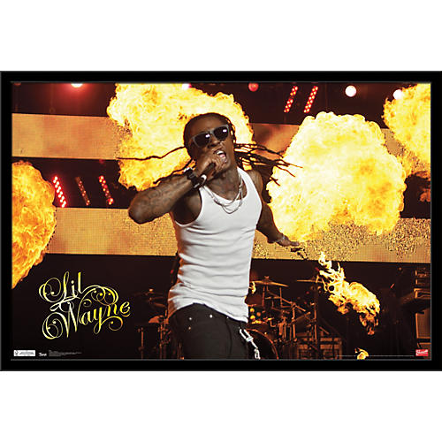 Trends International Lil Wayne - Stage Fire Poster