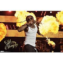 Lil Wayne - Stage Fire Poster Premium Unframed