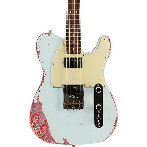 fender custom shop limited edition 39 60s telecaster hs sonic blue over pink paisley musician. Black Bedroom Furniture Sets. Home Design Ideas