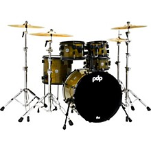 PDP by DW Limited Edition Concept Maple Shell Pack in Olive Stain Lacquer with Black Hardware
