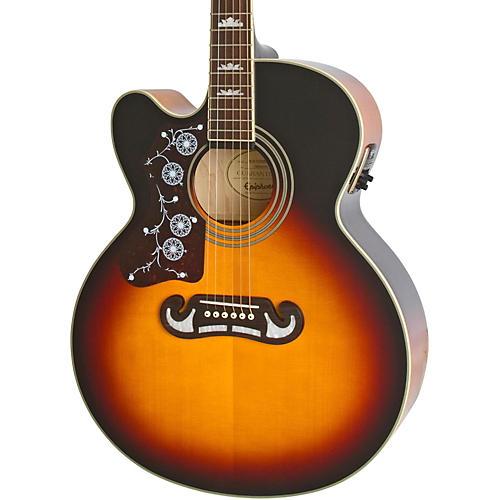 Epiphone Limited Edition EJ-200SCE Left-Handed Acoustic-Electric Guitar Vintage Sunburst