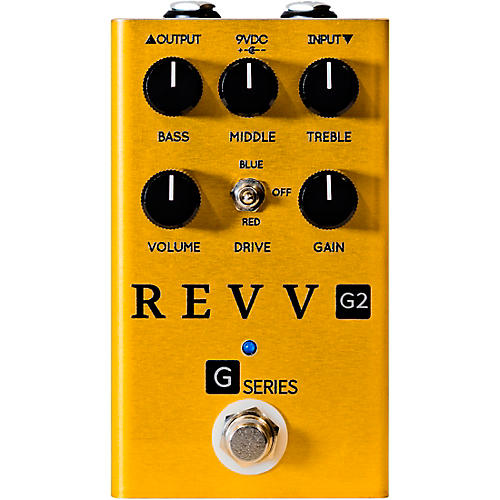 Revv Amplification Limited-Edition G2 Overdrive Effects Pedal Gold