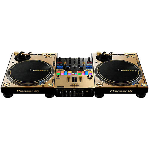 Pioneer Limited Edition Gold PLX-1000 and DJM-S9 DJ System