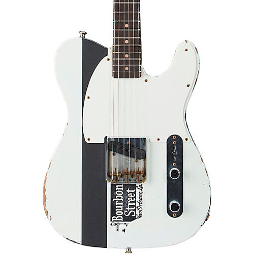 Fender Custom Shop Limited Edition Joe Strummer Esquire Relic Rosewood Fingerboard Electric Guitar Olympic White