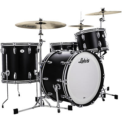 """Ludwig Limited Edition Legacy Mahogany Fab Shell Pack with 22 in. Bass Drum- """"Black Cat"""""""