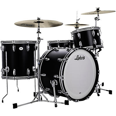 """Ludwig Limited Edition Legacy Mahogany Pro Beat Shell Pack with 24 in. Bass Drum- """"Black Cat"""""""