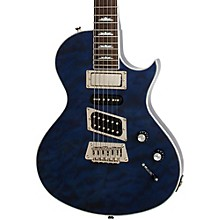 Limited Edition Nighthawk Custom Quilt Electric Guitar Transparent Blue