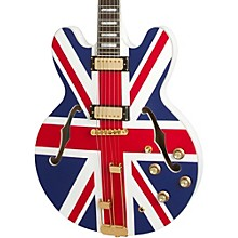 "Open Box Epiphone Limited Edition ""Union Jack"" Sheraton Hollowbody Electric Guitar"