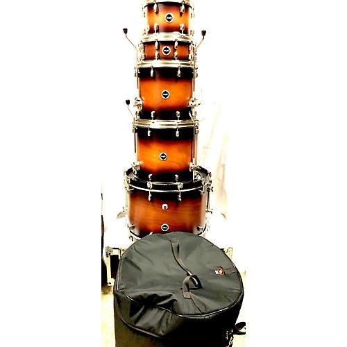 CRUSH Limited Mahogany Drum Kit Dark Cherry Burst