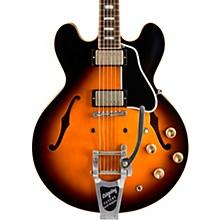 Limited Run ES-335 Anchor Stud Bigsby VOS Semi-Hollow Electric Guitar Antique Vintage Sunburst 5-ply Black Pickguard