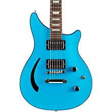 Limited Run Modern Double Cut Standard Semi Hollow Electric Guitar Blue Pearl
