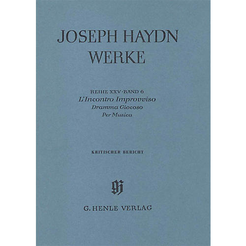 G. Henle Verlag L'incontro Improvviso - Dramma Giocoso per Musica - 2nd and 3rd act, 2nd part Henle Edition Hardcover