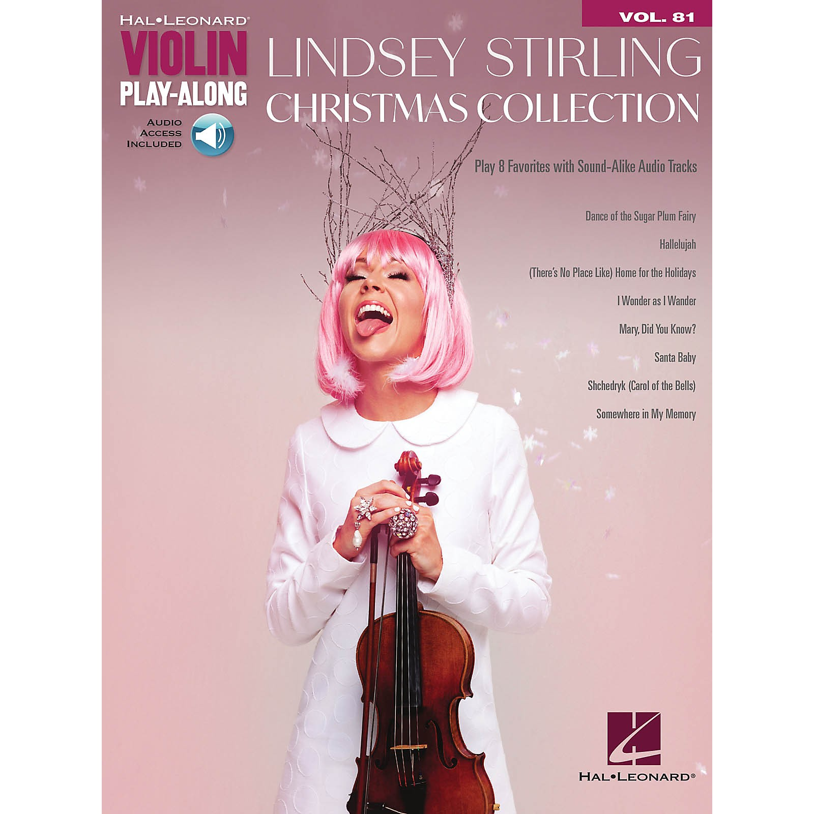 Hal Leonard Lindsey Stirling - Christmas Collection Violin Play-Along Volume 81 Book/Audio Online