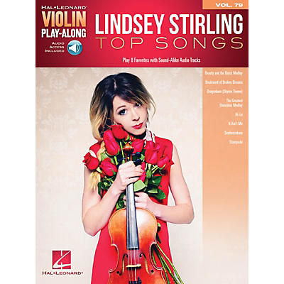 Hal Leonard Lindsey Stirling - Top Songs Violin Play-Along Volume 79 Book/Audio Online