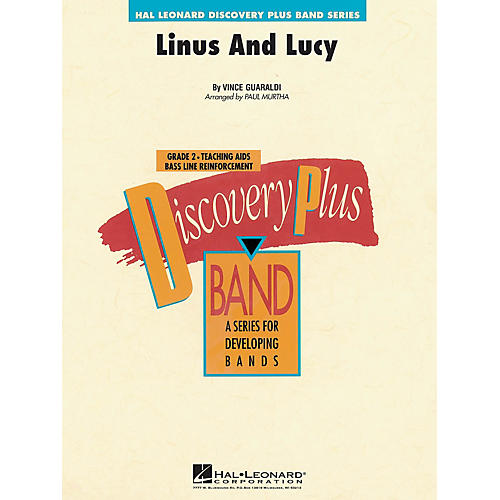 Hal Leonard Linus and Lucy - Discovery Plus Concert Band Series Level 2 arranged by Paul Murtha
