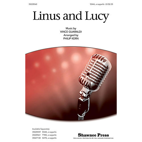 Shawnee Press Linus and Lucy SSA arranged by Philip Kern