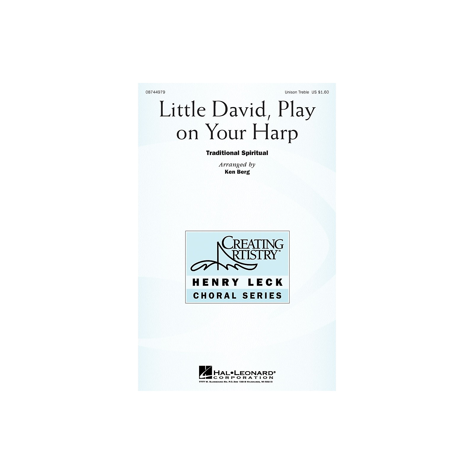 Hal Leonard Little David, Play on Your Harp Unison Treble arranged by Henry Leck