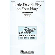 Hal Leonard Little David, Play on Your Harp Unison Treble arranged by Henry Leck