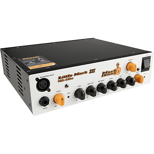 Markbass Little Mark III Limited Edition 500W Solid State Bass Head White