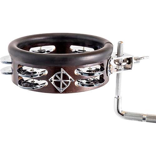 Dixon Little Roomer Mountable Wood Tambourine Black Coal Satin