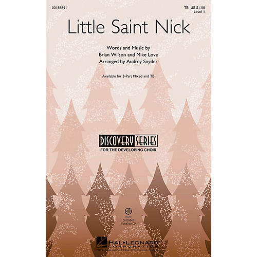 Hal Leonard Little Saint Nick (Discovery Level 1) TB arranged by Audrey Snyder