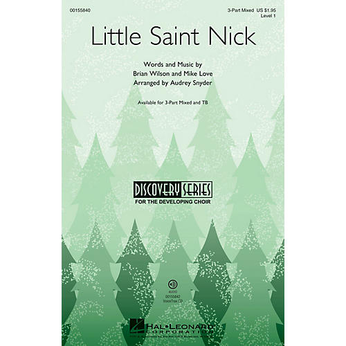 Hal Leonard Little Saint Nick (Discovery Level 1) VoiceTrax CD Arranged by Audrey Snyder