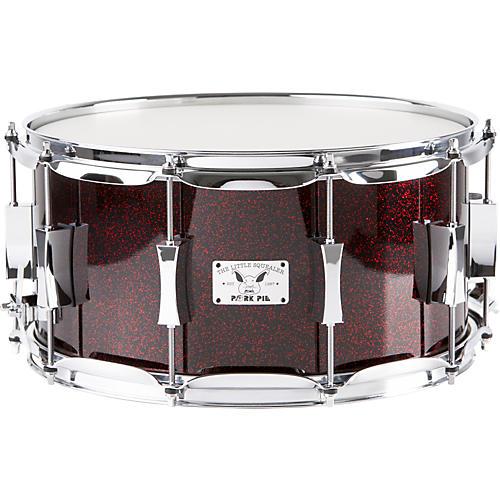 Pork Pie Little Squealer Maple Snare Drum, Blood Red Sparkle