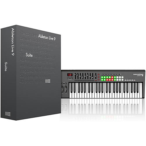 Ableton Live 9 Suite(Boxed) with Novation Launchkey 49