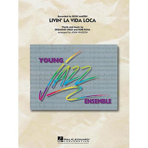 Hal Leonard Livin La Vida Loca Jazz Band Level 3 by Ricky Martin Arranged by John Wasson
