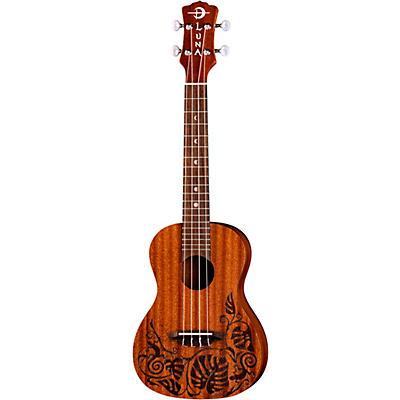 Luna Guitars Lizard Mahogany Left-Handed Concert Ukulele