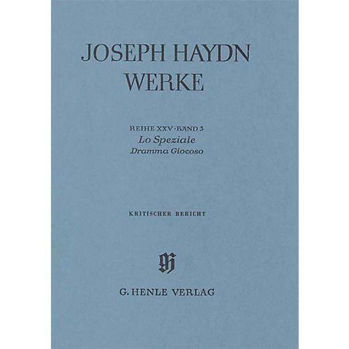 G. Henle Verlag Lo Speziale - Dramma Giocoso Henle Edition Series Hardcover