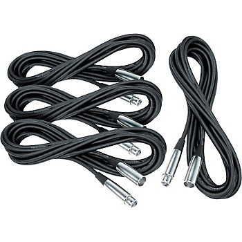 4-Pack Musician's Gear 20' Lo-Z Mic Cable