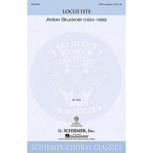 G. Schirmer Locus Iste SATB a cappella composed by Anton Bruckner