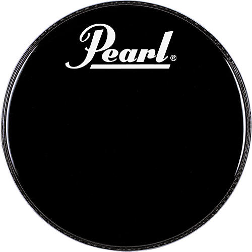 Pearl Logo Front Bass Drum Head Black 20 in.