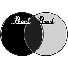 pearl logo front bass drum head ebony 22 in musician 39 s friend. Black Bedroom Furniture Sets. Home Design Ideas