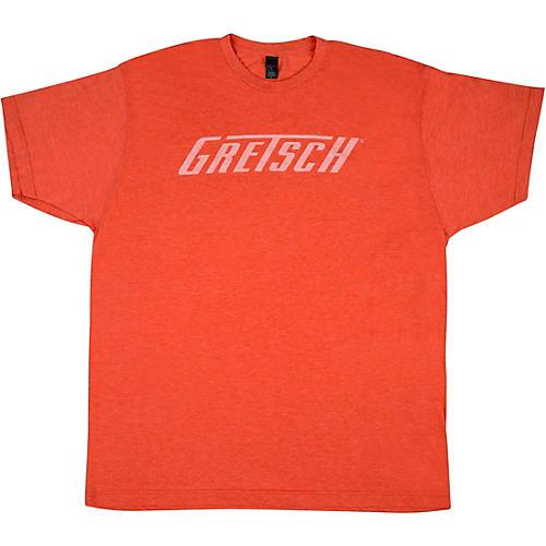 Gretsch Logo Heather Orange T-Shirt Medium