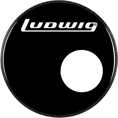 ludwig logo resonance bass drum head with port musician 39 s friend. Black Bedroom Furniture Sets. Home Design Ideas
