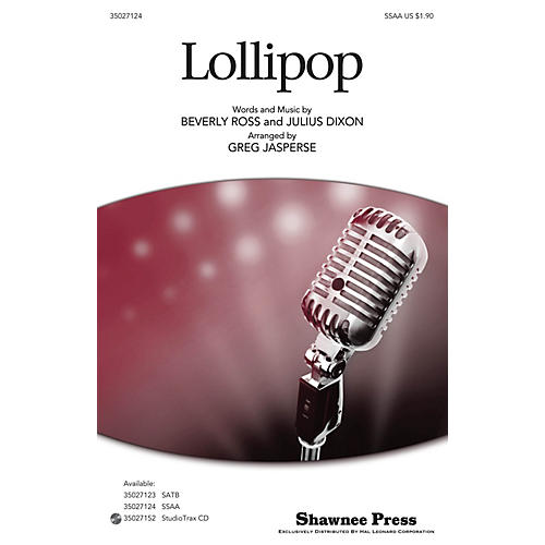 Shawnee Press Lollipop SSA arranged by Greg Jasperse