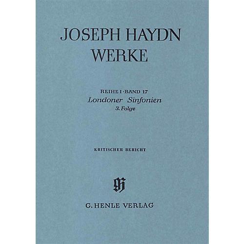 G. Henle Verlag London Sinfonias, 3rd sequence Henle Edition Series Hardcover