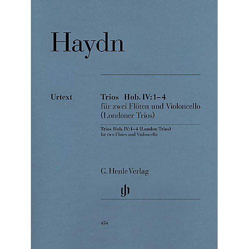 G. Henle Verlag London Trios Hob.IV:1-4 Henle Music Folios Series Softcover Composed by Joseph Haydn
