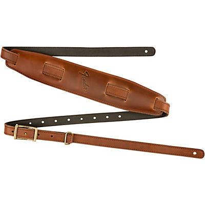 Fender Long Mustang Saddle Leather Guitar Strap