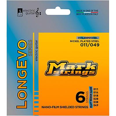 Markbass Longevo Series Nanofilm Shielded Nickel Plated Steel Electric Guitar Strings (11-49)