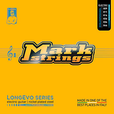 Markbass Longevo Series Nanofilm Shielded Nickel Plated Steel Electric Guitar Strings (9-46)