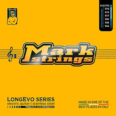 Markbass Longevo Series Nanofilm Shielded Stainless Steel Electric Guitar Stings (10-46)