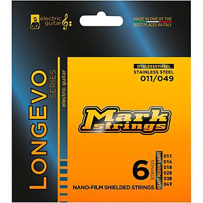 Markbass Longevo Series Nanofilm Shielded Stainless Steel Electric Guitar Stings (11-49)