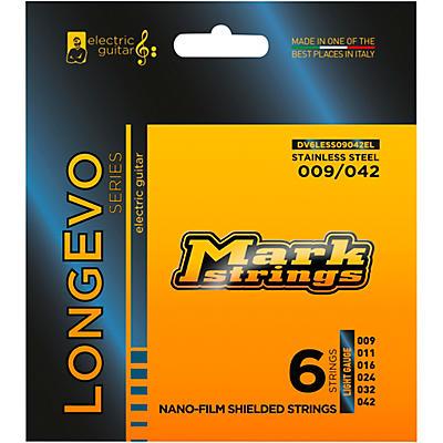 Markbass Longevo Series Nanofilm Shielded Stainless Steel Electric Guitar Stings (9-42)