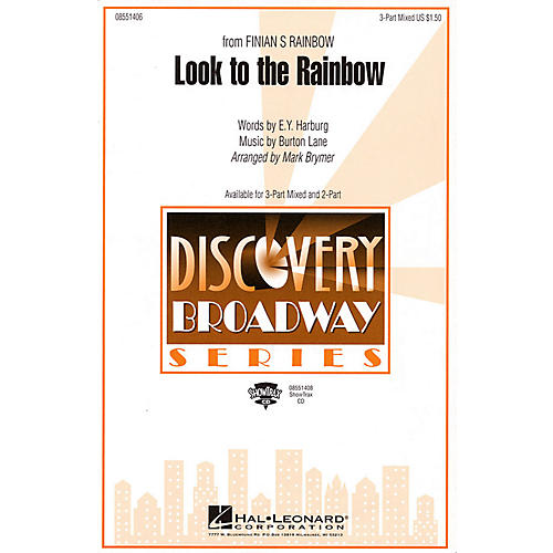 Hal Leonard Look to the Rainbow (from Finian's Rainbow) 3-Part Mixed arranged by Mark Brymer